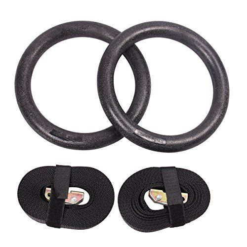 KYLIN SPORT Pair of Olympic High Density Heavy Duty ABS Gymnastic Rings with Buckles Straps for Gym Workout Body Strength Training Fitness  //Price: $ & FREE Shipping //     #sports #sport #active #fit #football #soccer #basketball #ball #gametime   #fun #game #games #crowd #fans #play #playing #player #field #green #grass #score   #goal #action #kick #throw #pass #win #winning