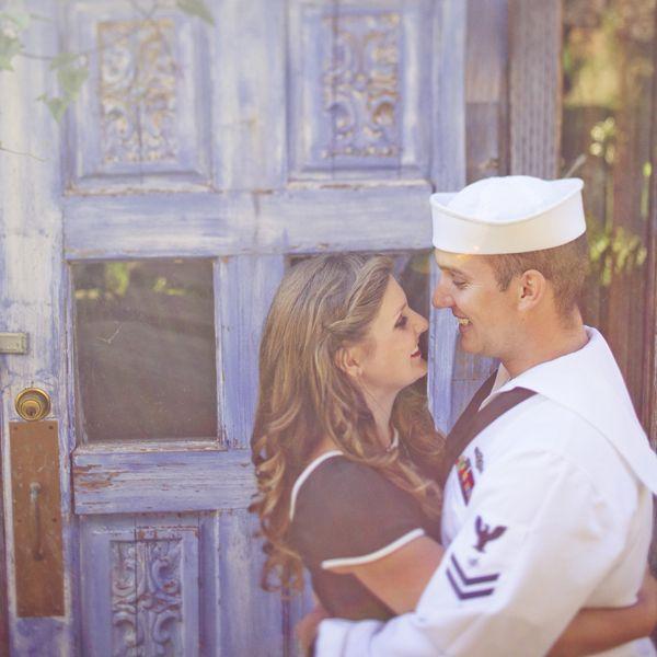 navy sailor engagement photos