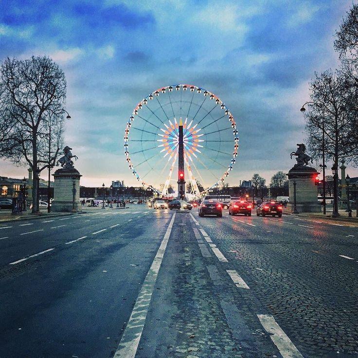 Champs-Elysées - Concorde  #Paris #IgersParis #Concorde #ChampsElysées #FerryWheel #PlaceDeLaConcorde #IleDeFrance #France #Turism #Road #Colors #Beautiful #Landscape #City #Street #RoueDeParis #Obelisque #February2017