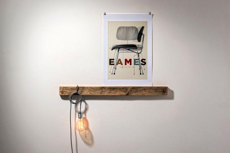 Gestaltungsidee für eine wild-harmonisch-natürliche Wanddeko mit Bildern und Holz - www.mammilade.blogspot.de