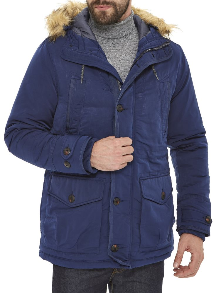 Blue Nylon Parka Jacket from Burton