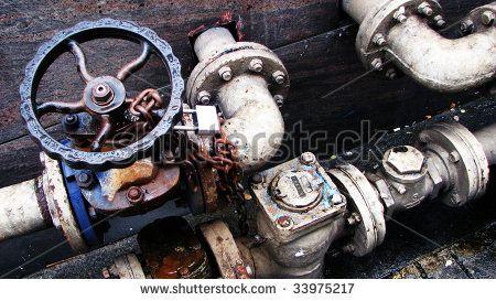 Metal Pipes Locks Levers Valves