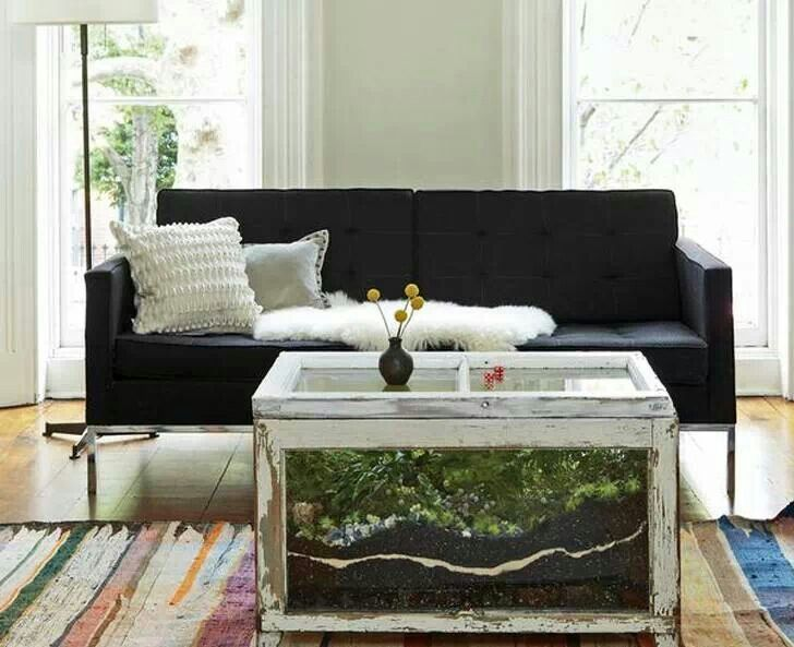Definitely want to brave this DIY terrarium coffee table made from old  windows one day 😣 - 15 Best Terrarium Table Images On Pinterest Fairies Garden