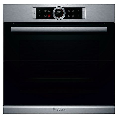 Buy Bosch HBG674BS1B Single Pyrolytic Electric Oven, Brushed Steel Online at johnlewis.com