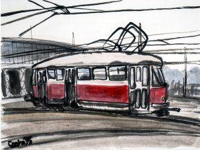 Caska T1 Vozovna FB - obraz na plátně