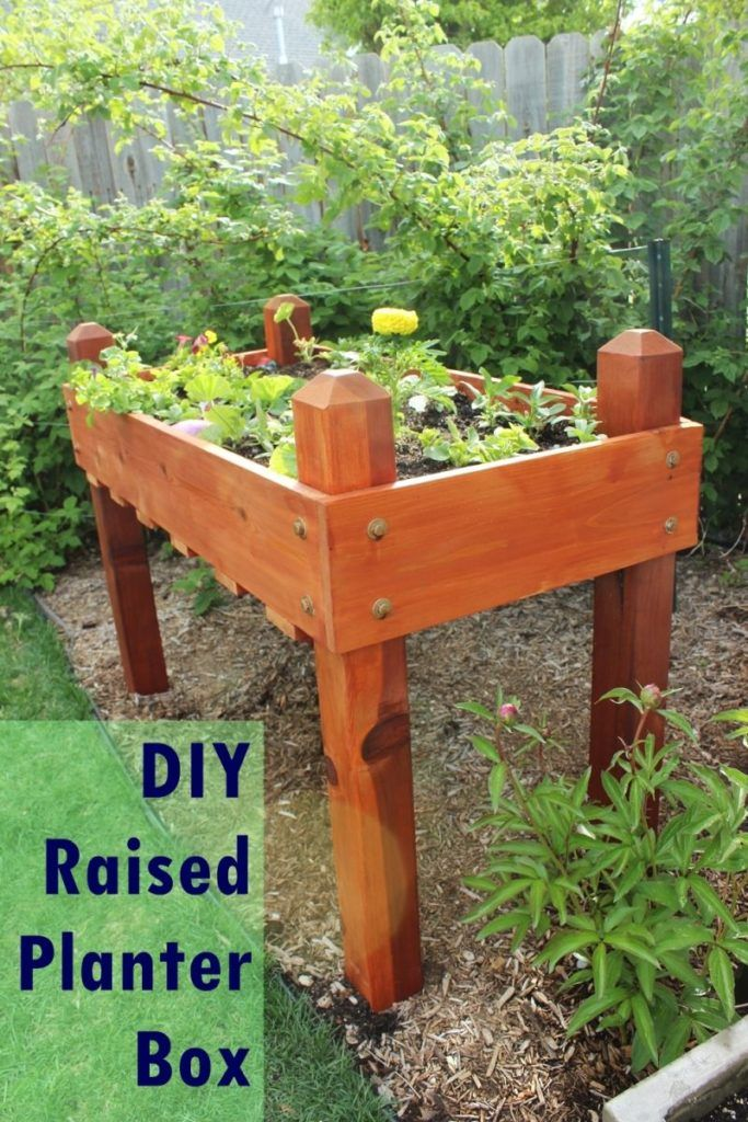 Raised Planter Boxed For Summer Gardening Pinterest Planter