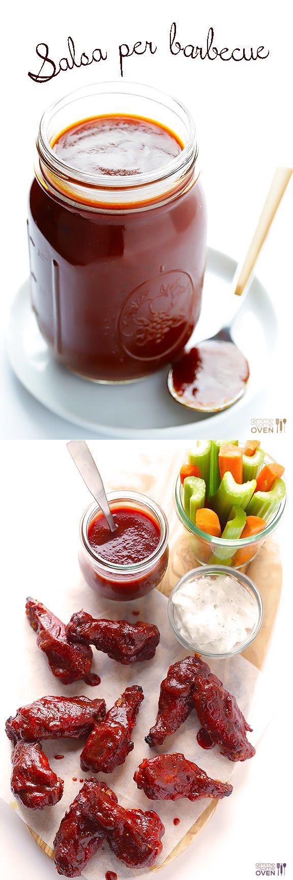 Tempo Di Preparazione: 5 minuti Tempo Di Cottura: 25 minuti Tempo Totale: 30 minuti Resa: circa 2 tazze Ingredienti  1 (15 once) può salsa di pomodoro 1/2 tazza di aceto di sidro di mele 1/3 di tazza di miele o nettare di agave Pasta 1/4 tazza di pomodoro 1/4 di tazza di melassa 3 cucchiai. Worcestershire 2 cucchiaini. fumo liquido * 1 cucchiaino. paprika affumicata 1 cucchiaino. aglio in polvere 1/2 cucchiaino. pepe nero appena macinato 1/2 cucchiaino. cipolla in polvere 1/2 cucchiaino…