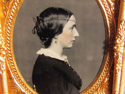 young victorian woman wearing eye patch dark glass ambrotype photograph | eBay