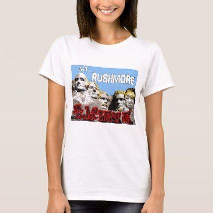 Mt. Rushmore Graffiti T-Shirt - diy cyo customize create your own personalize