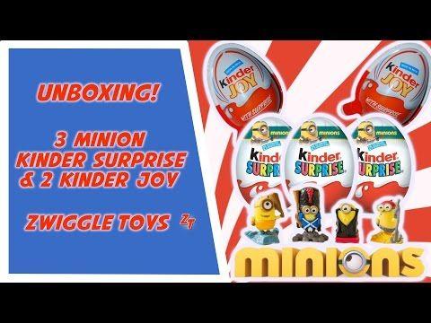 Unboxing 3 Minion Kinder eggs and 2 Kinder joy! - YouTube