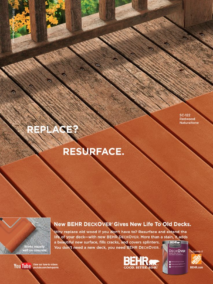 Behr Deckover Paint - Now here's another great idea. REALLY considering this for our deck this year!