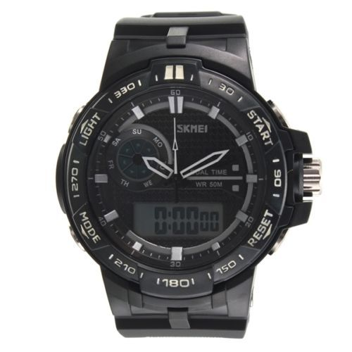 LED-Digital-Sports-Waterproof-Wrist-Watch-Men-039-s-Rubber-Band-5ATM-SKMEI