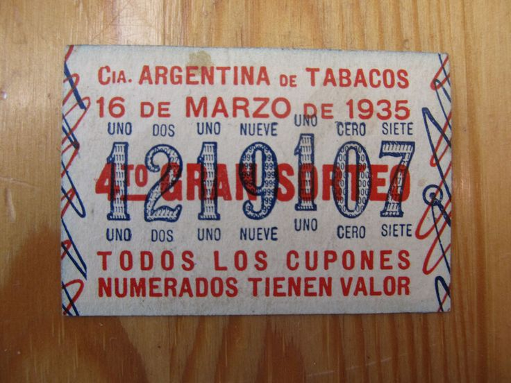 CIA. ARGENTINA DE TABACOS /CUPONE , COUPON