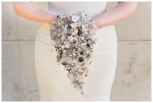 Ivory Teardrop Shower Jewellery Brooch Bouquet shower brooch bouquet