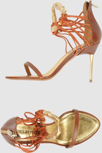 Sandalias de tacón: Shoes, High Heels Sandals, Emilio Pucci, Brown Camels, Shops, Sandals, Highheel Sandals, Sandalia De, Pucci Highheel