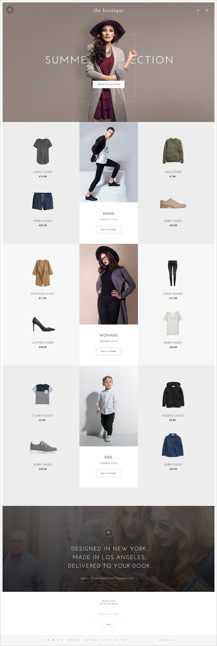 Floris is an award wining stunning #PSD template for #minimalist #boutique shop eCommerce website download now➩ https://themeforest.net/item/floris-trendy-ecommerce-psd-template/18415910?ref=Datasata