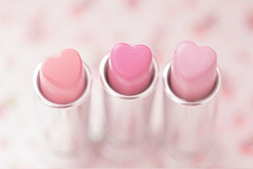 heart-shaped lipsticks