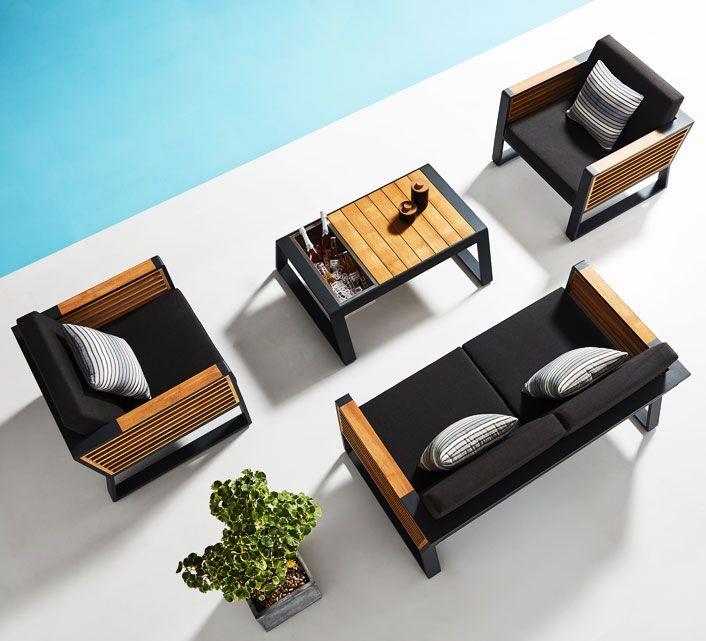 lounge bora noir anthracite