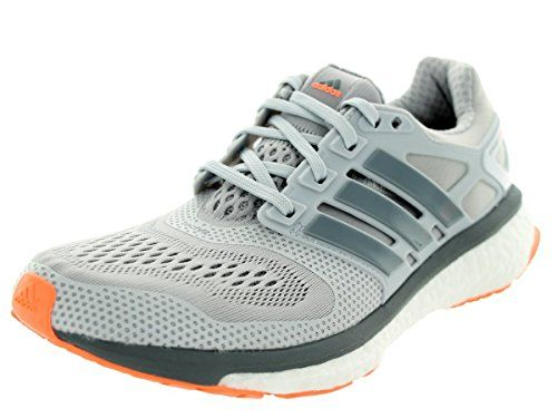 Adidas Women\u0027s Energy Boost Esm Solid Grey/Grey/Flash Orange Running Shoe  10 Women