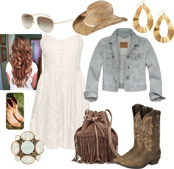 """""""Cute Country Girl Outfit Look"""" by natihasi on Polyvore"""