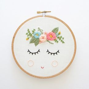 POSY Embroidery Pattern Digital Download by ThreadFolk on Etsy                                                                                                                                                                                 Mais