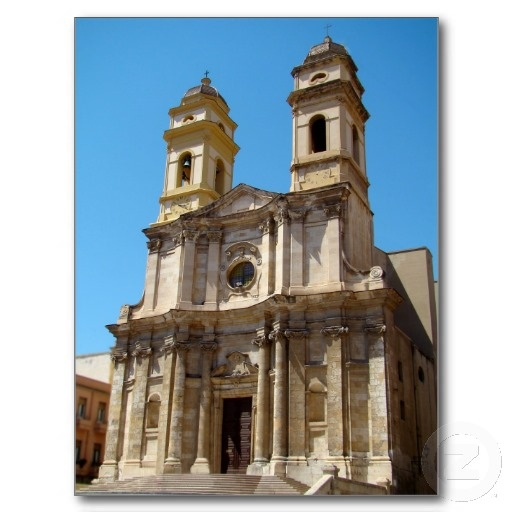 Church of Sant'Anna, Cagliari, Sardinia PostCards by birdersue from Zazzle - Digital photography by Sue Melvin