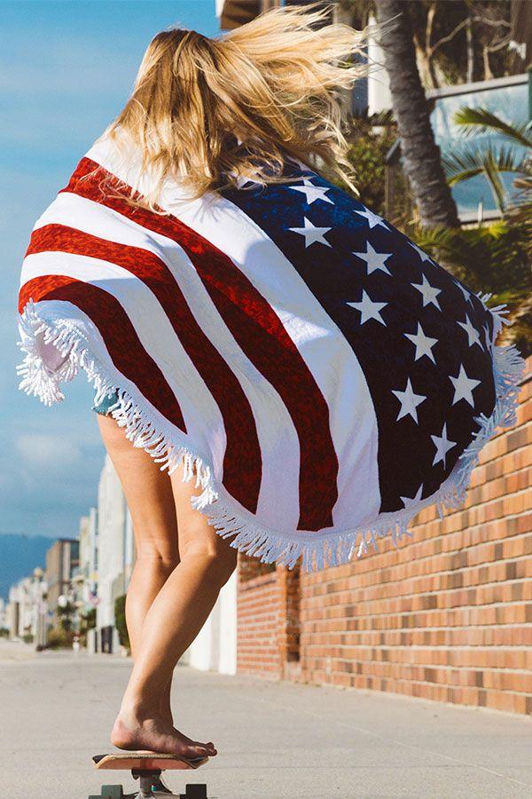 Beach Holiday Travel Yoga Bath Pool Round Beach Towel Cover Ups Flag Shawf Print Blankets Towel Beach Wear