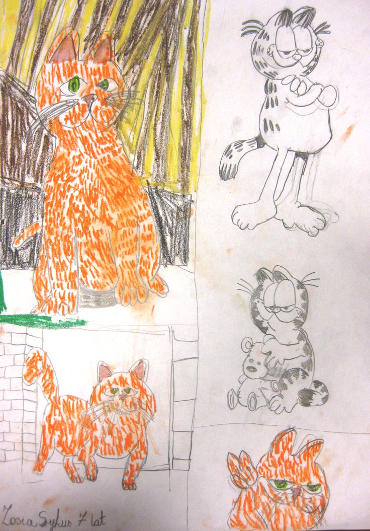 Mali Artyści  Temat : Garfield