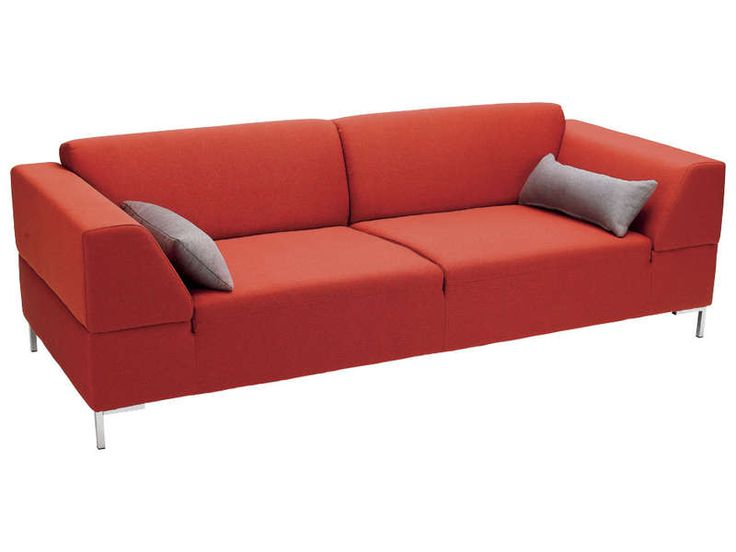 Canap fixe 3 places joshua coloris rouge vente de canap droit conforama - Canape convertible 3 places conforama ...
