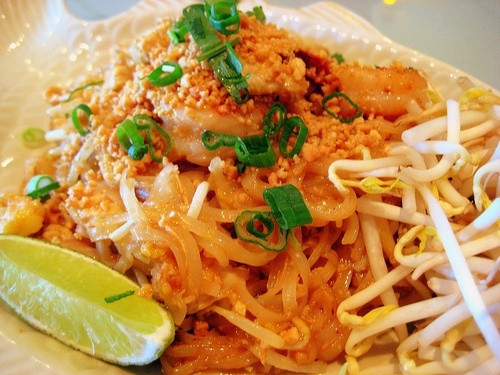 Phad Thai. Possibly the best food known to man. I want some do badly right now :)