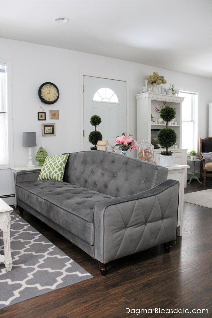 Novogratz Vintage Tufted Sleeper Sofa By Dhp Furniture It S
