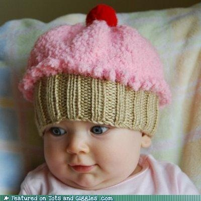 I knitted one of these cute cupcake hats for my grand daughter: Hats, Babies, Idea, Craft, Cupcakehat, Baby Girl, Kids