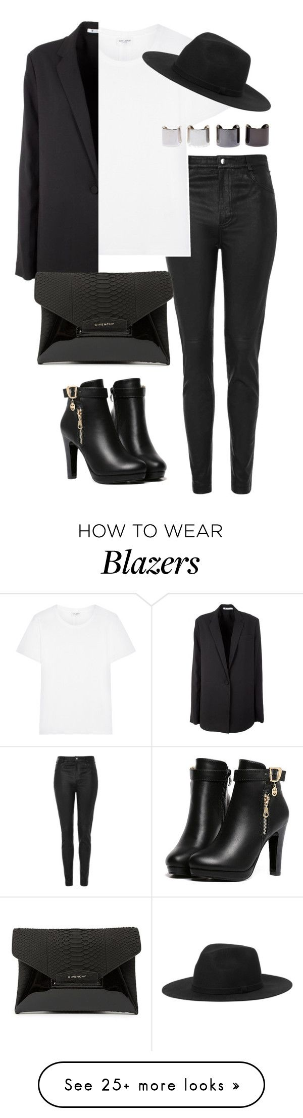 """""""Untitled #1832"""" by officialnat on Polyvore featuring Topshop, Yves Saint Laurent, T By Alexander Wang, Givenchy, Monki and Luv Aj"""