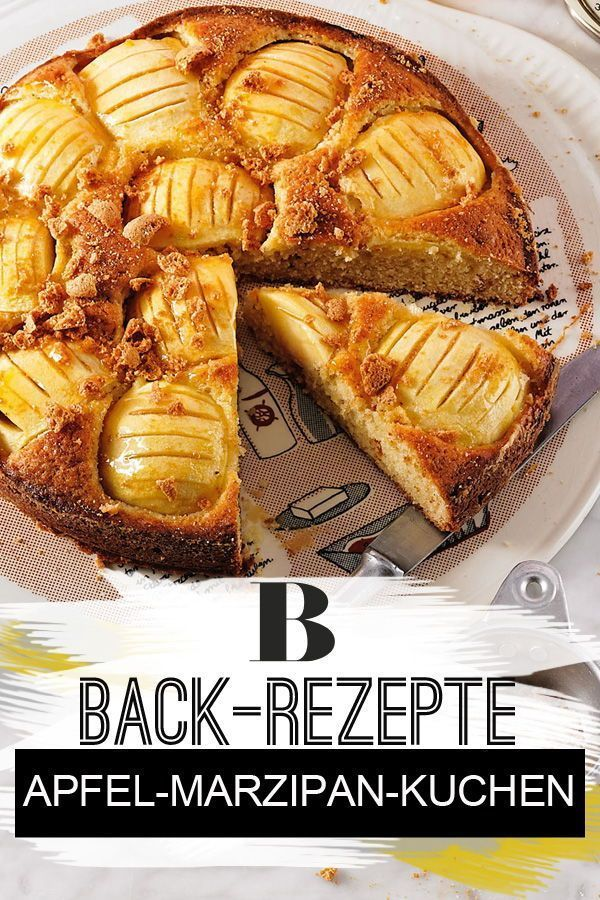 Versunkener Apfel Marzipan Kuchen Rezept Apfel Marzipan Kuchen Rezepte Kuchen