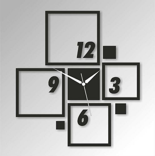 DIY black and white wall art clock