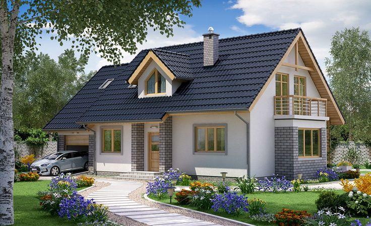 Projekt+BW-03+wariant Pow. użytkowa: 111,7 m² Pow. zabudowy: 125,6 m²