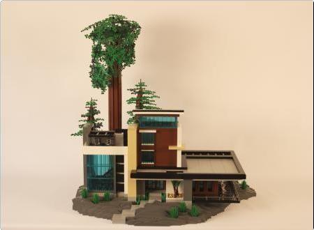 lego modern house instructions