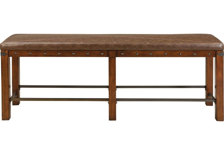 picture of Red Hook Pecan Counter Height Bench from  Furniture
