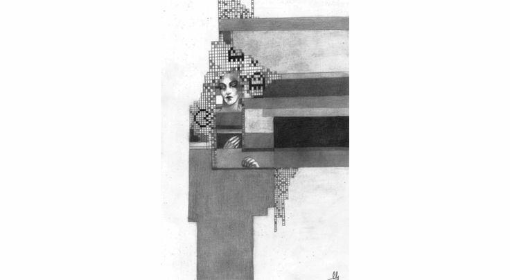 Pixels - ołówek na papierze, 21cm x 29.7cm