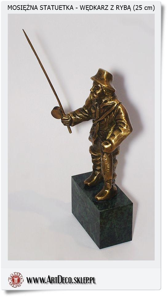 Statuetka Wędkarz na rybach polskie rzemiosło