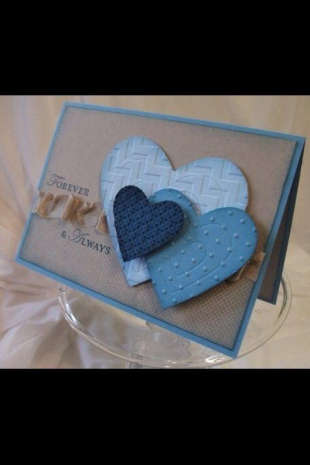 card heart hearts valentine sweetheart blue tone