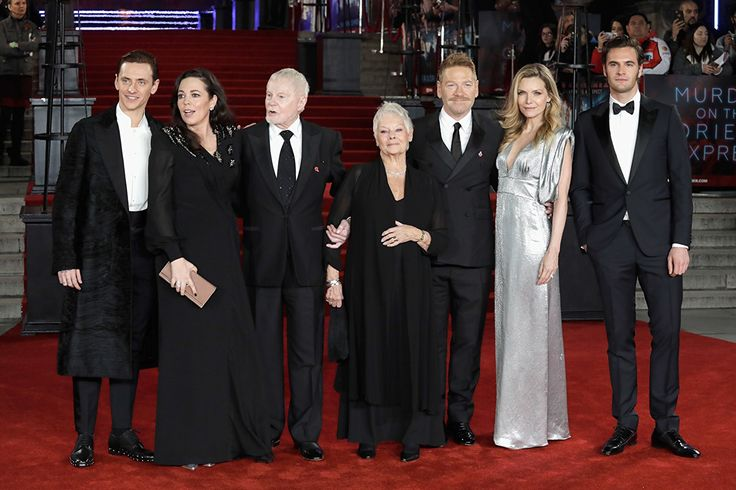 Kenneth Branagh, Michelle Pfeiffer, Judi Dench, Derek Jacobi, Olivia Coleman, Sergei Polunin, and Tom Bateman at an event for Murder on the Orient Express (2017)