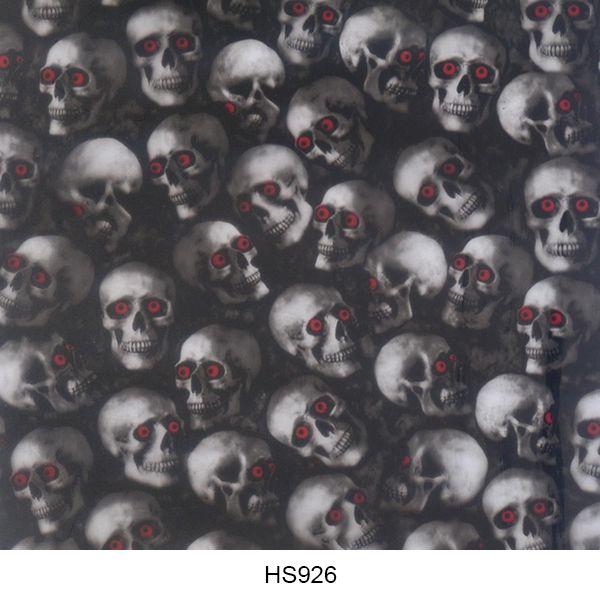 Hydrographics film skull pattern HS926