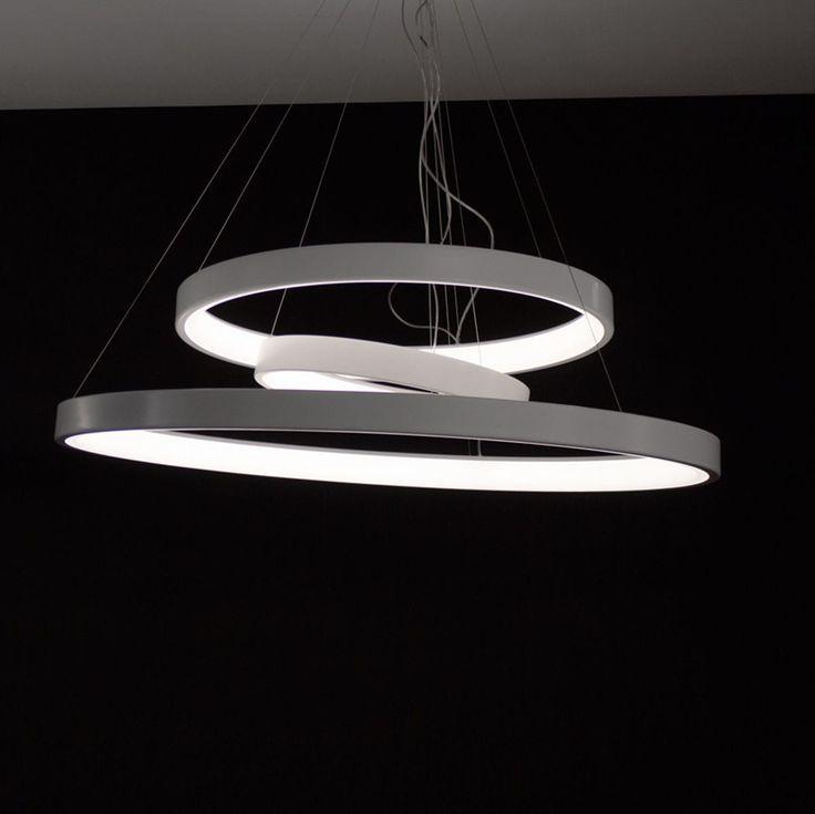 Lampada a sospensione / design originale / in alluminio / da interno LUNAOP cod.2086/3/DIM/L/1/BI by Emiliana Martinelli 2015 Martinelli Luce Spa