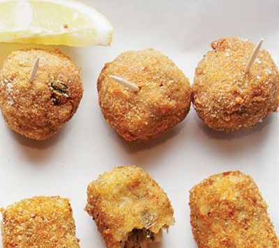Polpette (Meat Croquettes)  Made with ground veal and potatoes, these are a classic Venetian cicheti.