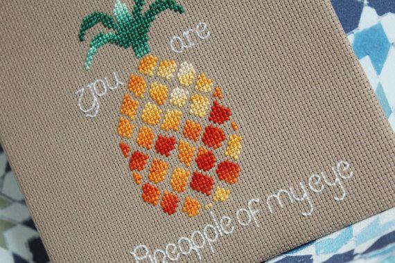 Cross Stitch Pattern  Pineapple of My Eye pdf by StitchTheRainbow