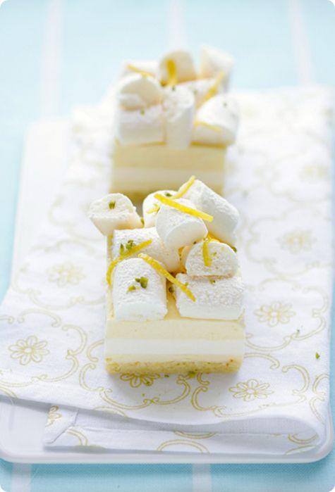 Lemon Curd and Buttermilk Panna Cotta Cake