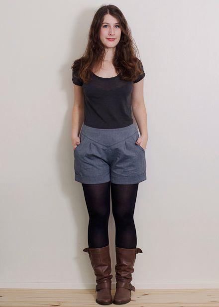 Jolis patrons de couture - Short Chataigne (Deer and Doe) en allongeant les jambes pour en faire un pantalon.