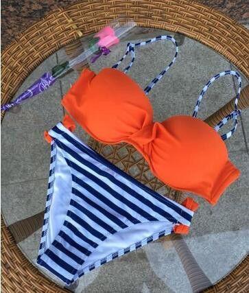 Swimsuits 2017 Sexy Bikinis Push Up Swimwear Women Swimsuit Bandeau Beach Bathing Suits Brazilian Plus Size Bikini Set Biquini