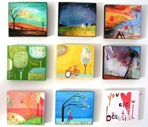Love these little paintings by Cathy Nichols!
